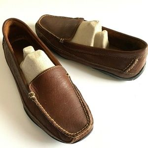 LL Bean Brown Leather Loafer Driving Moccasins 10M